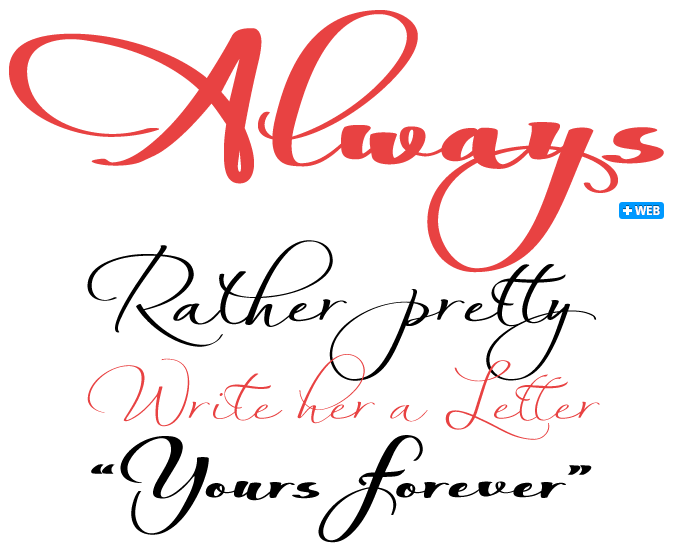 Always font sample