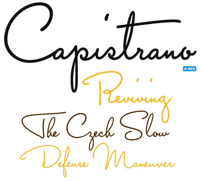 Capistrano font sample