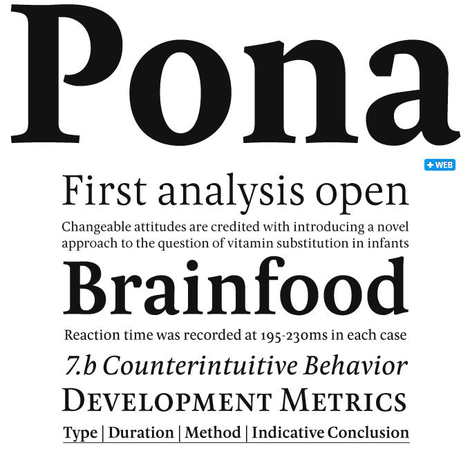 Pona font sample