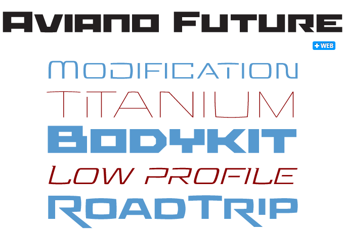 Aviano Future font sample