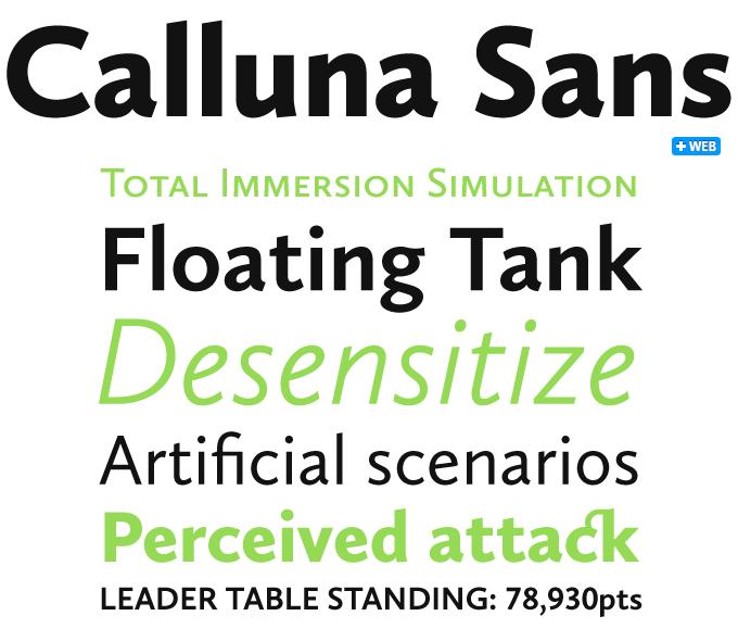 Calluna Sans font sample