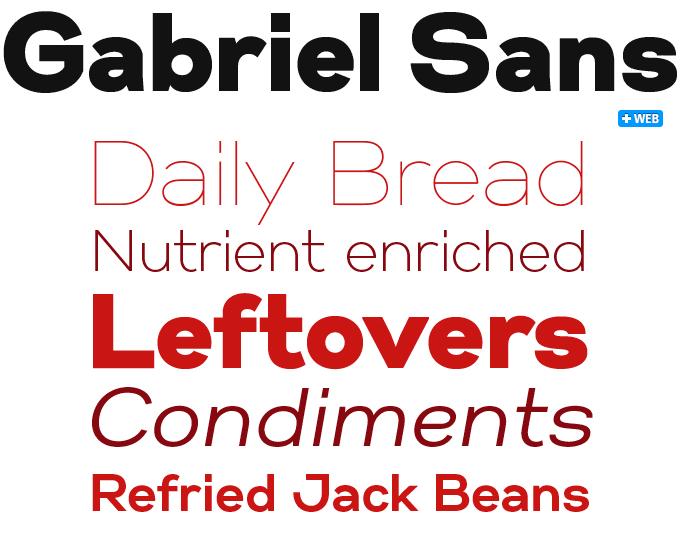 Gabriel Sans font sample