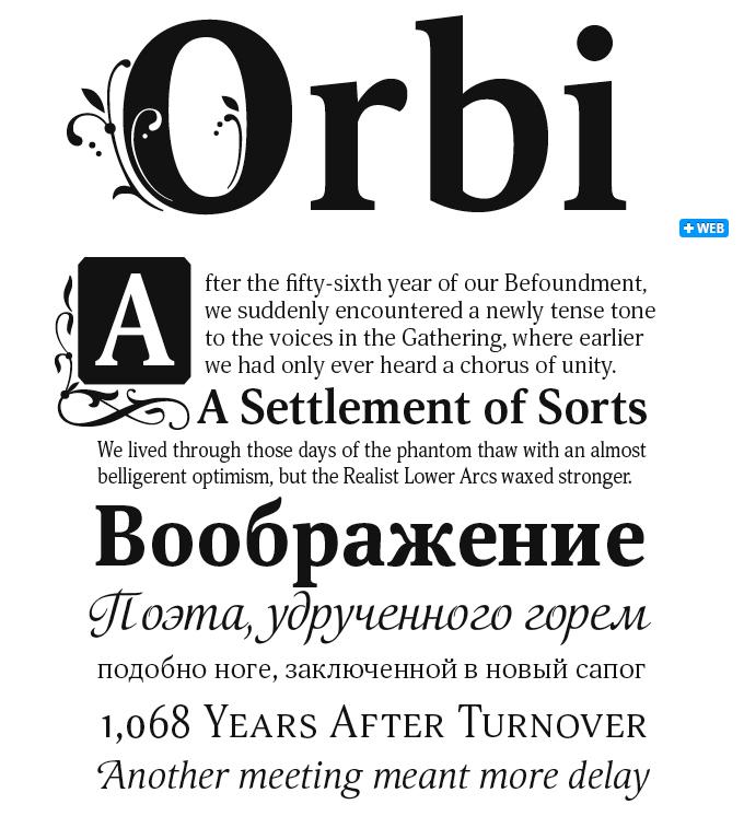 Orbi font sample