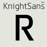Knight Sans font flag
