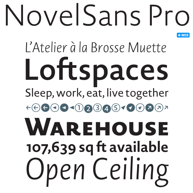 Novel font sample