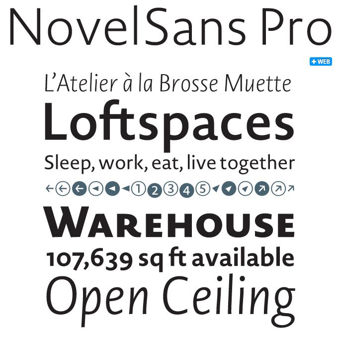 Novel font sample
