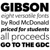 Gibson font flag