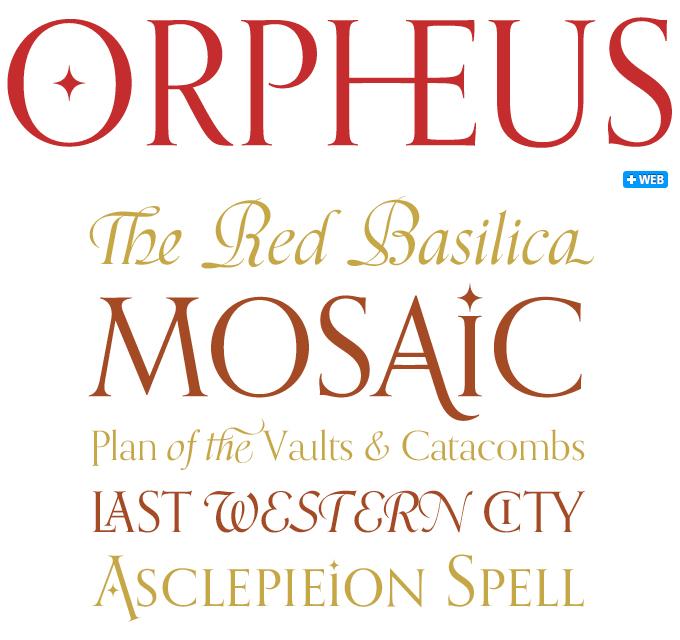 Orpheus Pro font sample