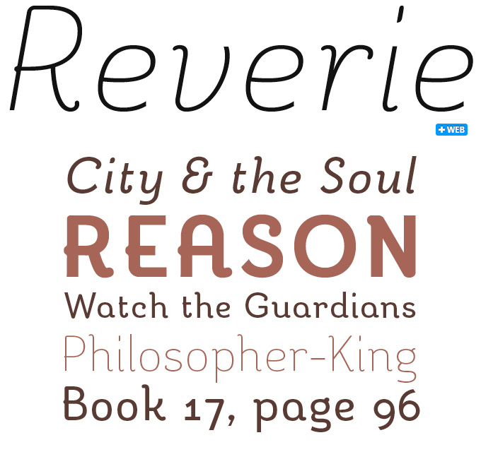 Reverie font sample