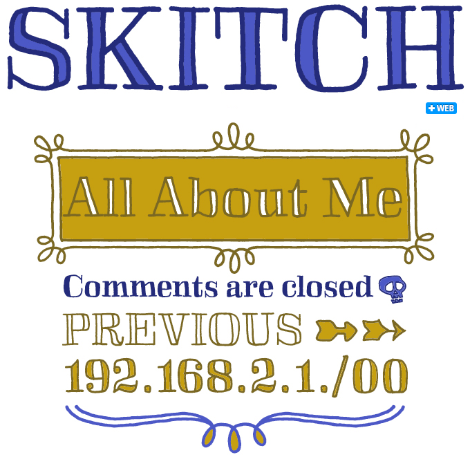 Skitch font sample