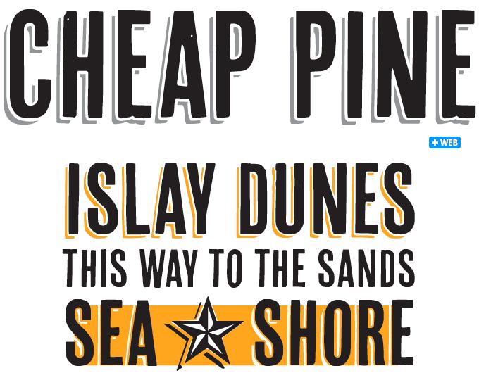 Cheap Pine font sample
