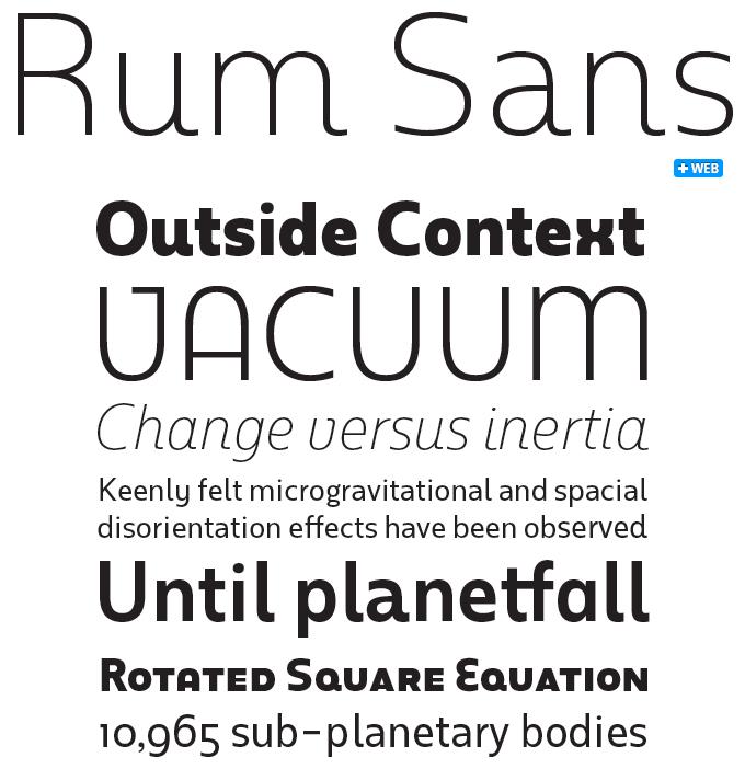 Rum Sans font sample