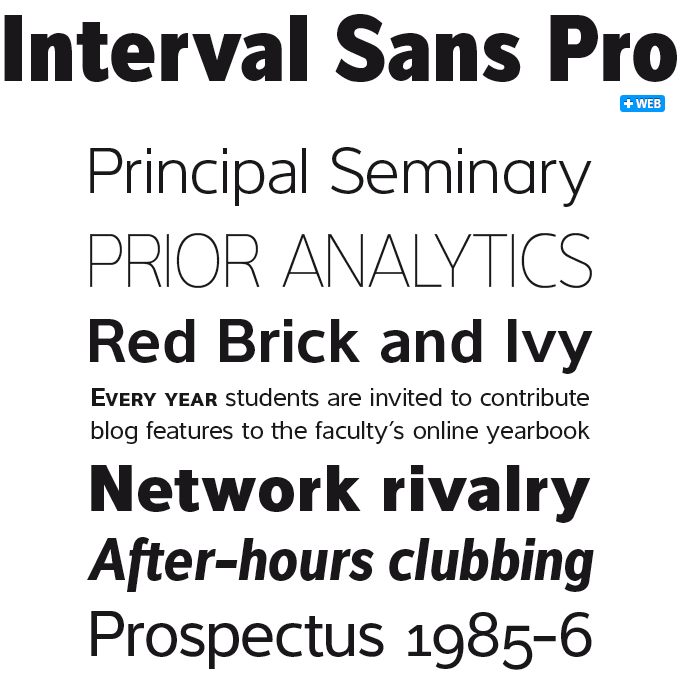 Interval Sans font sample