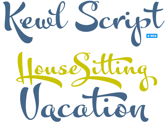 Kewl Script font sample