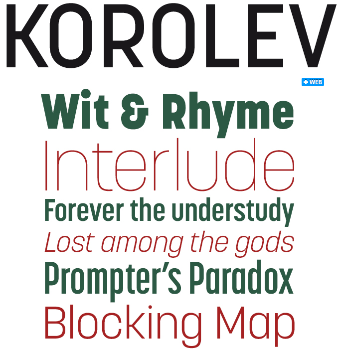 Korolev font sample