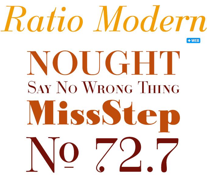 Ratio Modern font sample