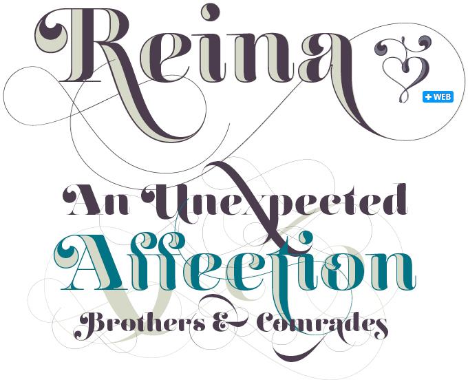 Reina font sample