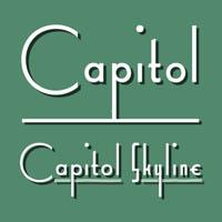 Capitol Skyline font flag