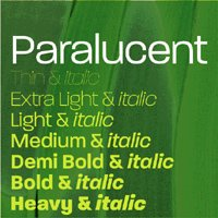Paralucent font flag