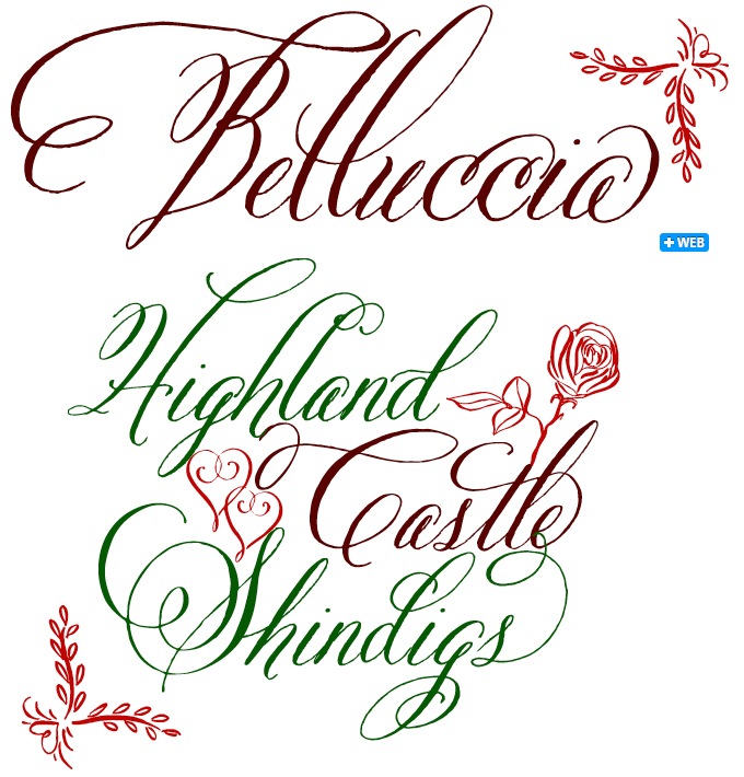 Belluccia font sample