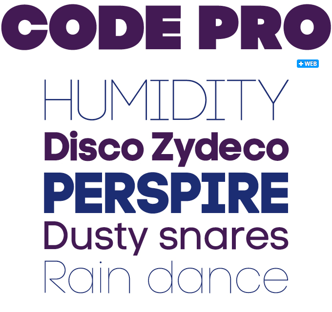 Code Pro font sample