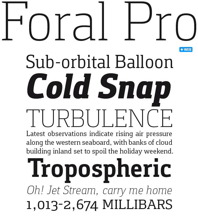 Foral font sample