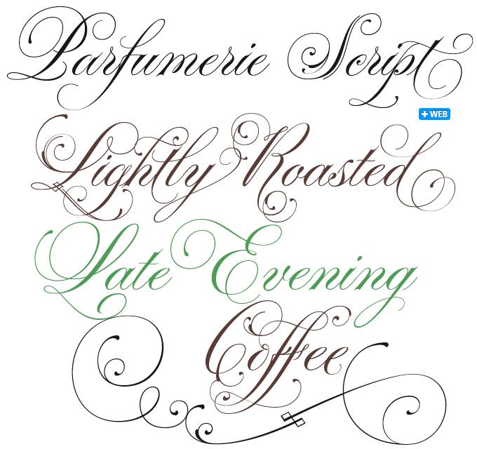 Parfumerie font sample