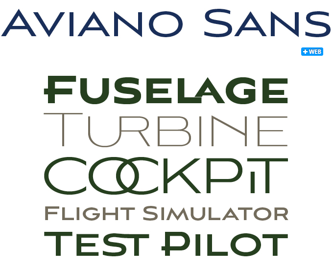 Aviano font sample