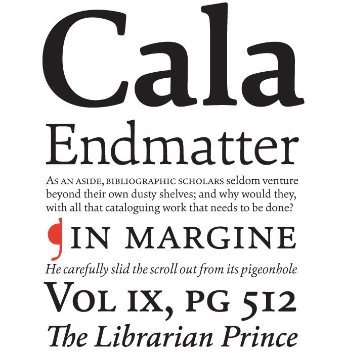Cala font sample