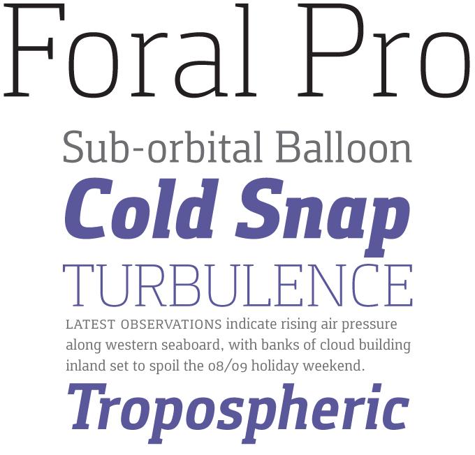 Foral Pro font sample