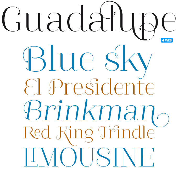 Guadalupe font sample