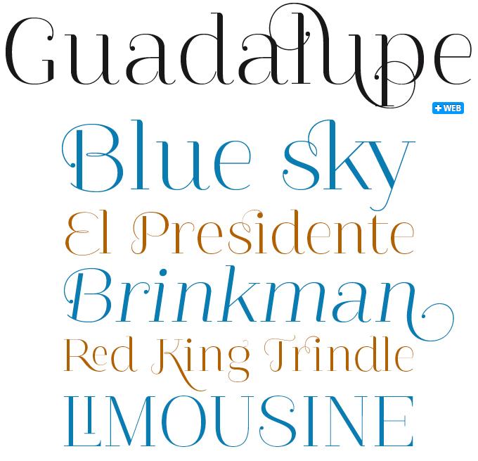Guadalupe font sample
