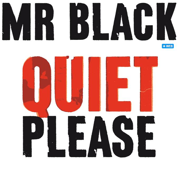 Mr Black font sample