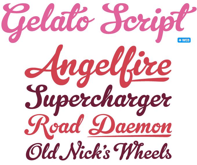 Gelato Script font sample