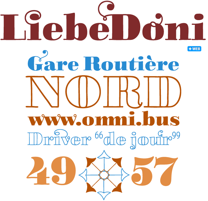 LiebeDoni font sample