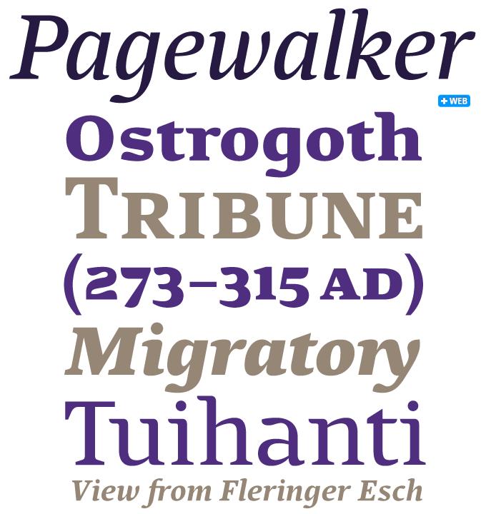 Pagewalker font sample