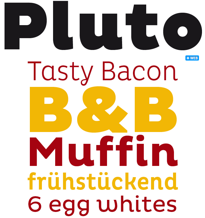 Pluto font sample