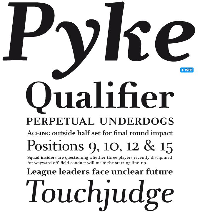 Ovink font sample