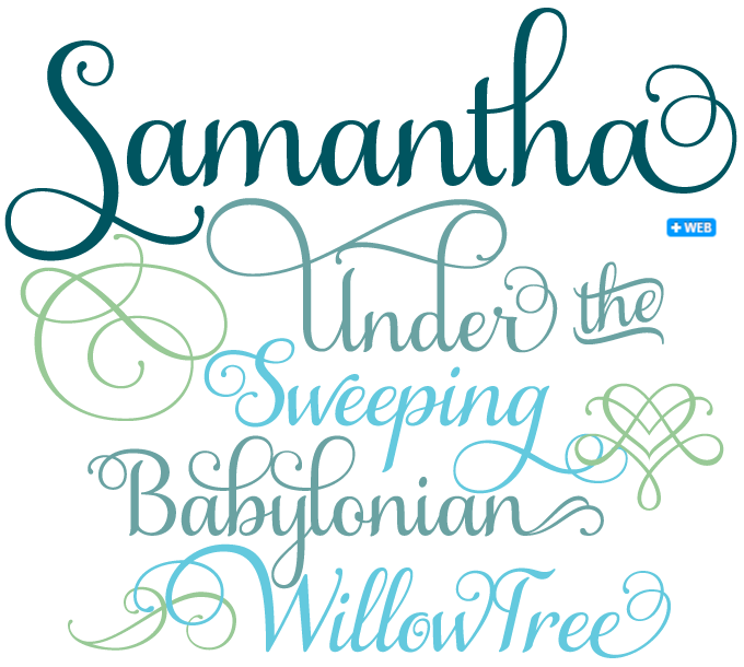 Samantha font sample