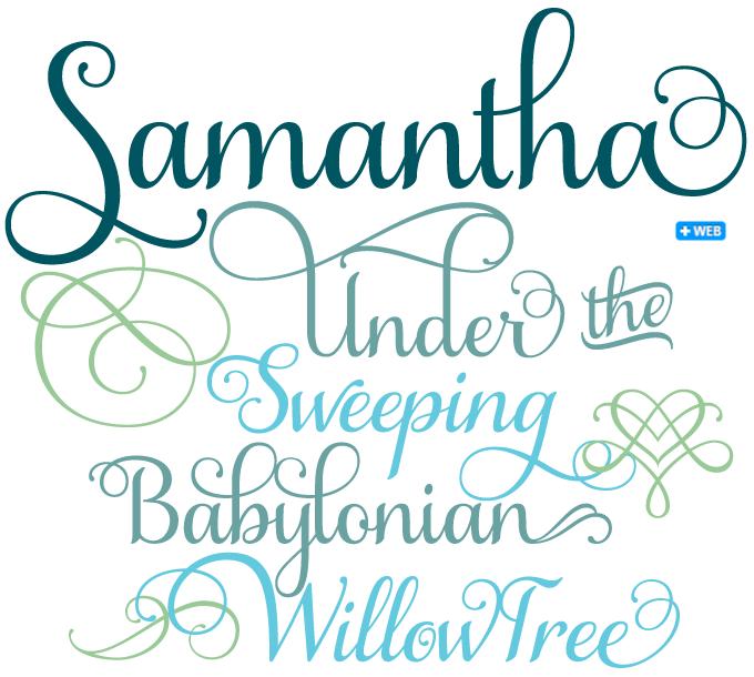 Samantha font sample