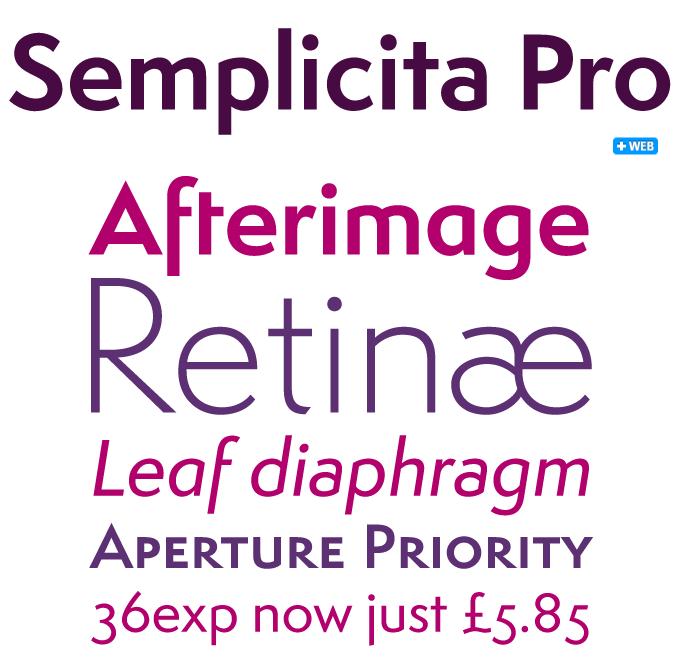Semplicita font sample