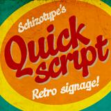 Quickscript font flag