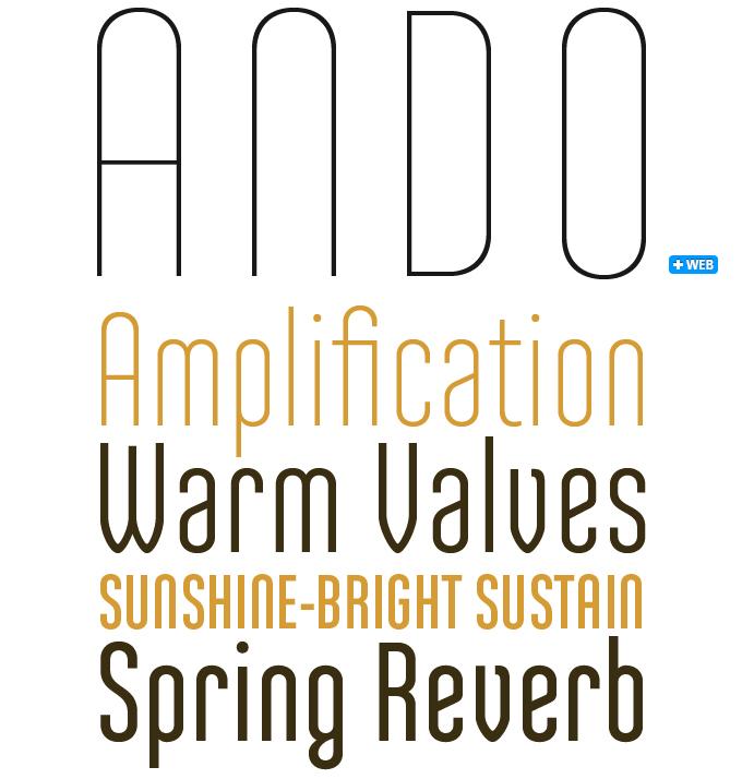 Ando font sample