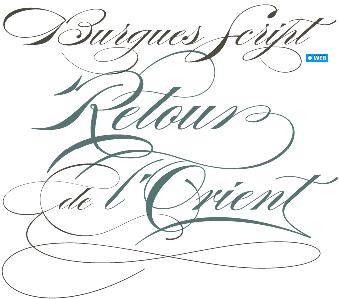 burgues font sample