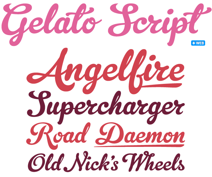 Gelato Pro font sample
