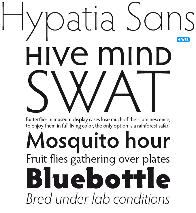 Hypatia Sans font sample