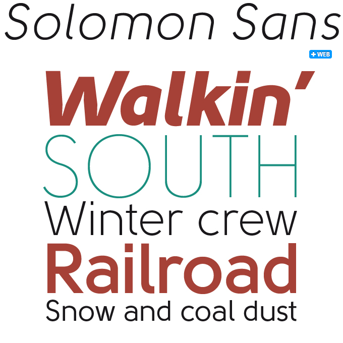 Solomon Sans font sample