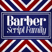 Barber font flag