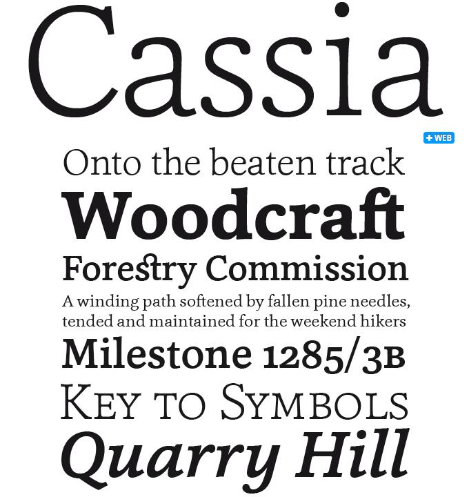 Cassia font sample