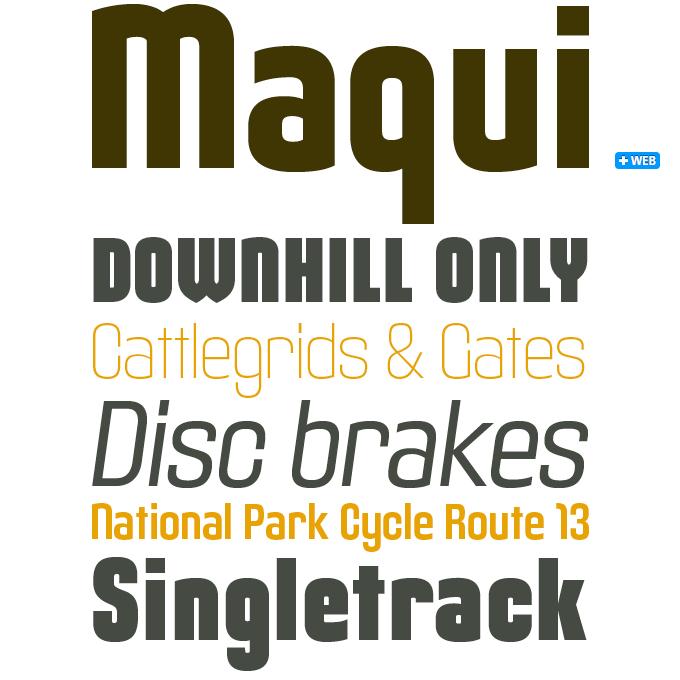 Maqui font sample